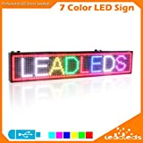 Leadleds 39 X 7.5 Inches 7 Colors Message LED Billboard USB Programmable Full Color LED Signs for Business