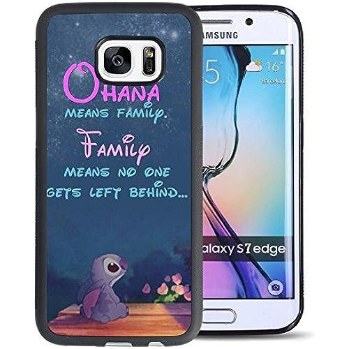 Lilo & Stitch Samsung Galaxy S7 Edge Case, Onelee [Never fade] Disney Lilo & Stitch Samsung Galaxy S7 Edge Black Sales