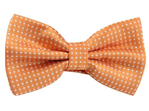 Orange Bowties (Panegy Mens Polka Dots Textured Pre-tied Adjustable Length Formal Tuxedo Bowtie Orange)
