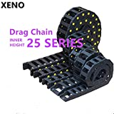 Ochoos 25 Series 1 Meter Plastice Nylon PA66 Drag Chain Cable Carrier Cable Tray - (Inner Size: 25x38TF)