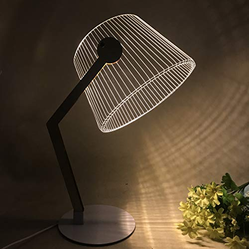 Omeet Nordic Style Delicate and Simple LED Night Light 3D Creative Acrylic Desk lamp Decoration Desk lamp (Acrylic Desk Lamp)
