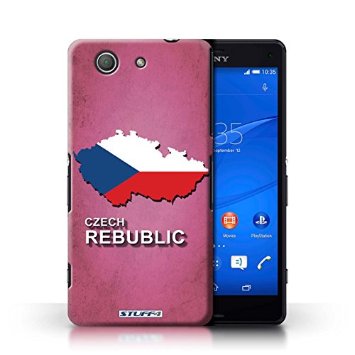 Kobalt® Imprimé Etui / Coque pour Sony Xperia Z3 Compact / Tchèque/Czechian conception / Série Drapeau Pays