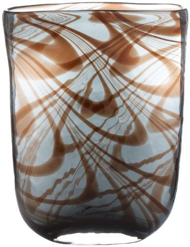 Lazy Susan Blue Carmel Swirl Vase, Small