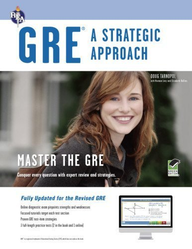 GRE: A Strategic Approach with Online Diagnostic Test (GRE Test Preparation) by Tarnopol M.A., Doug, Levy, Norman, Rollins, Elizabeth, GRE (October 17, 2011) Paperback Sixth Edition, Revised