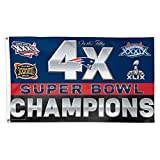 New England Patriots NFL 4x Super Bowl Champs Commemorative 3ftx5ft Deluxe Flag Review