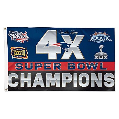 New England Patriots NFL 4x Super Bowl Champs Commemorative