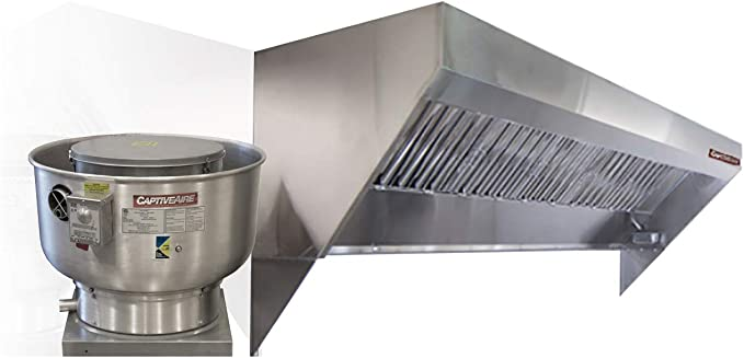 Amazon Com Food Truck Low Profile Exhaust Hood System Includes A Stainless Steel Exhaust Hood An Exhaust Fan An Adjustable Duct Section And Installation Hardware 4 Long Hood Fan Appliances