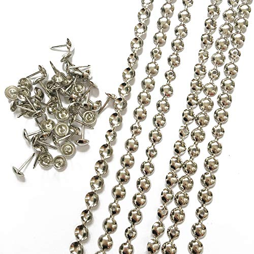 10 meters a lot: 9.5mm/11mm Nickel/Brass/Bronze Plated Decorative Nail Strips/Nailing Tapes,Sofa Tacks,Upholstery Tacks,DIY Furniture Accessory (A:9.5mm nickel) - Nickel Decorative Escutcheon