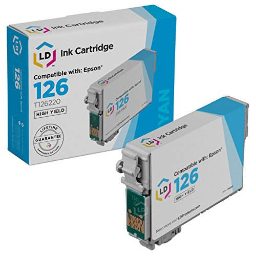 LD Remanufactured High Yield Cyan Ink for Epson 126 (Yield Cyan Pigment)