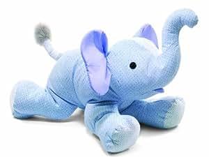 Steiff 235832 Trampili - Elefante de peluche tumbado (65cm), color celeste