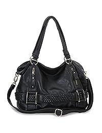 MG Collection Samantha Weave Belt Hobo Handbag