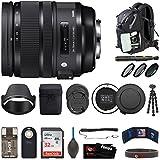 Sigma 24-70mm f/2.8 DG OS HSM Art Lens for Nikon F-Mount Cameras (576955) Deluxe Travel Bundle
