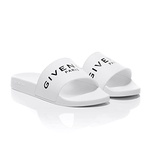 4a6bf2c1bc6d Givenchy White Slider Sandals (41 EU)  Amazon.co.uk  Shoes   Bags