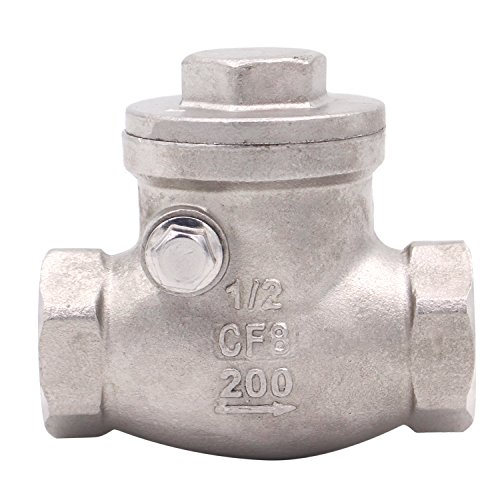 1/2 Inch Swing Check Valve - WOG 200 PSI Stainless Steel SS304 CF8M NPT
