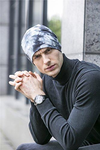 azulado Beanie 100 BaronHong los Skull gris algodón Slouchy Hat para Cap Diario hombres IIgwZq47