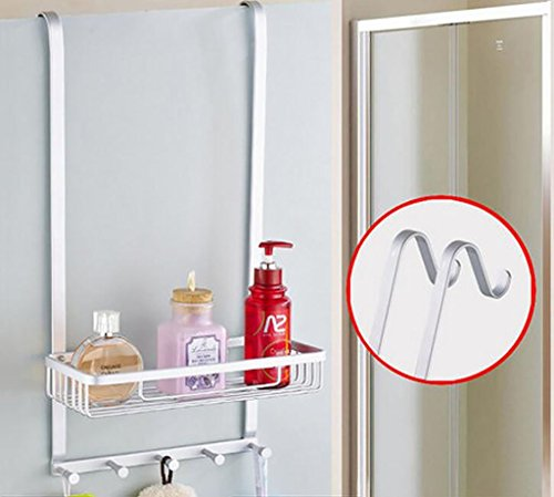 YAOHAOHAO Bathroom shelving free shower hole room rack, bath rooms 304 stainless steel wall hanging Shopping Cart 1 layer depend on storage rack (Color (a) by YAOHAOHAO