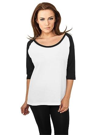 cacc418e43c T-shirt Femme à manches longues Haut Top 100% Cotton Manches 3 4 ...