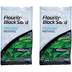 Seachem Fluorite Black Sand Substrate, 15.4lb Total (Two 7.7lb Bags)