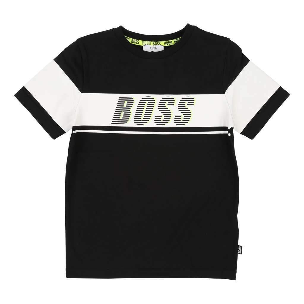 Hugo Boss Kids Black Short Sleeve T-Shirt
