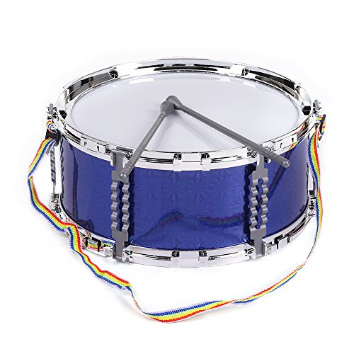 ammoon Jazz Snare Drum Musical Toy Percussion Instrument with Drum Sticks Strap for Children Kids