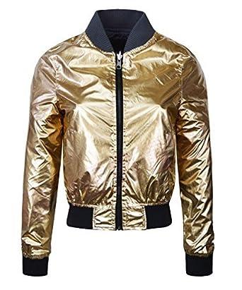 New Womens Reversible Ladies Ma1 Bomber Jacket Vintage Coat Flight