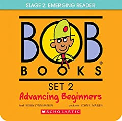 Bob Books Set 2-Advancing Beginners continues to build reading skills. Use of three-letter words and consistent vowel sounds in slightly longer stories build confidence. Children love the hilarious (and sometimes mischievous) stories and pict...