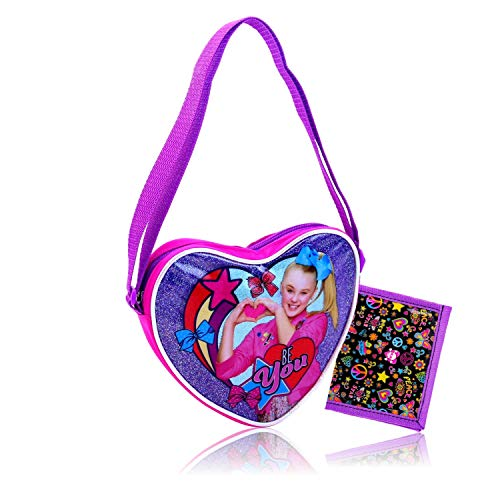 JoJo Accessories for Girls Bundled with Separately Licensed Girls Wallet (JoJo Purse Be You Heart Shaped) ()