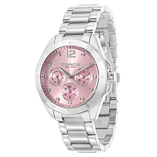 eaff2bd6528a Coach Reloj de pulsera Tristen 36 mm Rosa Plata para Mujer  Coach   Amazon.es  Relojes