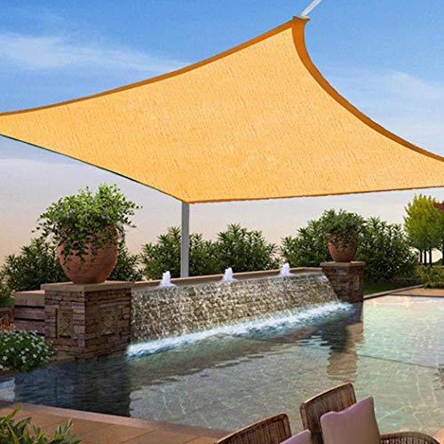 (HOTUEEN Durable Practical Solid Breathable Sunscreen Tool Sun Shade Sail Shade Cloth)