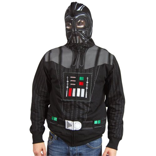 [Star Wars Sith Full Face Black Hoodie, Small] (Star Wars Full Face Darth Vader Hoodie)