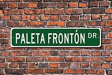 VGSH Paleta Fronton Paleta Fronton Señal de Paleta Fronton Fan Paleta Fronton Player Regalo Peruano Juego Personalizado Calle S 4x16 Pulgadas Street Sign: Amazon.es: Hogar