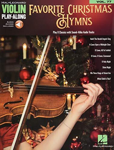 Favorite Christmas Hymns: Violin Play-Along Volume 77 (Hal Leonard Violin Play-along)