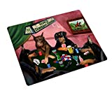 Home of Doberman 4 Dogs Playing Poker Large Tempered Cutting Board 15.74'' x 11.8'' x 5/32''
