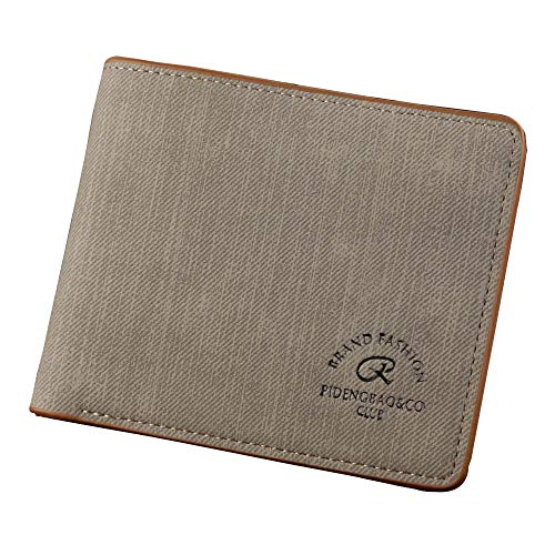 Pengy Man Canvas Wallet Retro Short Wallet Multi-Card Wallet Wild Male Casual Purse