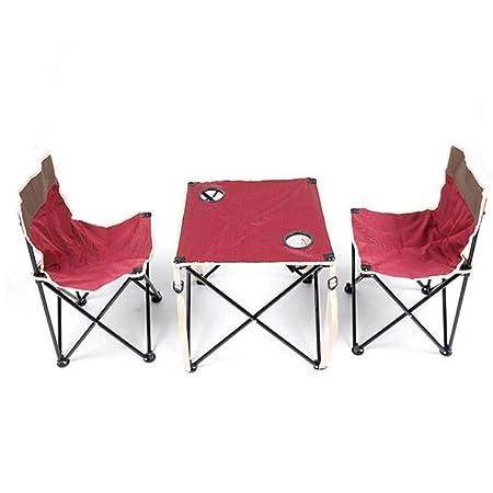 MYFGBB Mesa y sillas Plegables para Exteriores, Mesa Plegable de ...