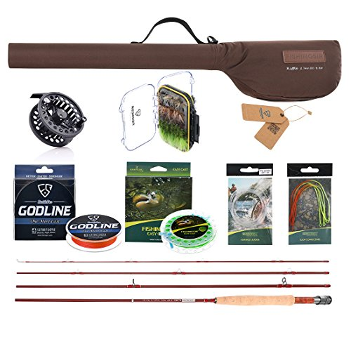 Fishingsir fly fishing rod and reel complete combo anglers for Fly fishing kits