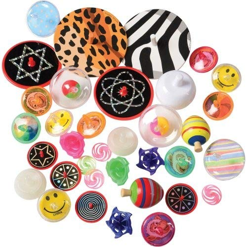 DollarItemDirect Spin TOP Novelty Toys 80 PC. Assortment , Sold by 3 Packs by DollarItemDirect (Image #1)