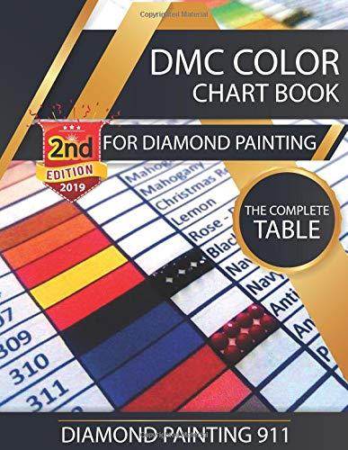 Dmc Color Chart Book For Diamond Painting The Complete Table 2019