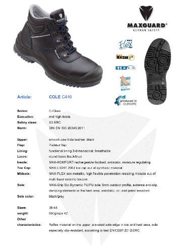 Schnürstiefel C410 Reflex S3, Maxguard schwarz Größe: 37