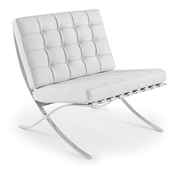 van der rohe furniture to set of chairs in white leather chair replica mies van der rohe amazoncom