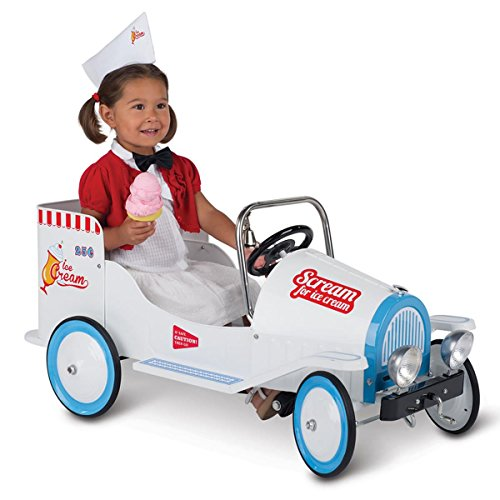 Morgan Cycle Ice Cream Truck Pedal Car, White