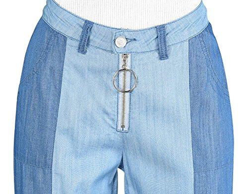 Blu Pantaloni Mena sottile centesimi femminile Jean gambe con Plus nove Look Uk Size HqwHUxg7