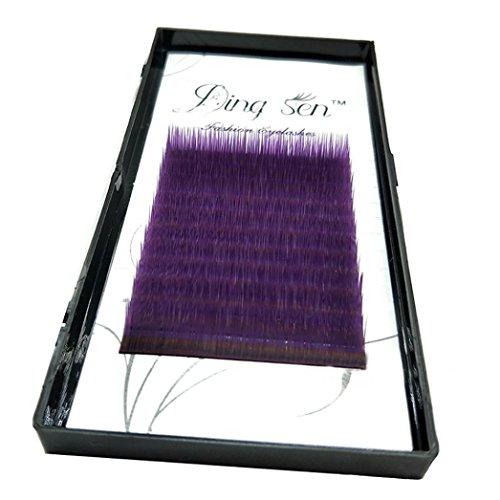 5b9e2431ed4 3 Colors False Eyelash Extensions Makeup Eye Lashes 12 Rows Fitted Hot (10,  Purple