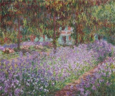 The high quality polyster Canvas of oil painting 'Irises in Monet's Garden, 1899-1900 By Claude Monet' ,size: 8x10 inch / 20x24 cm ,this Replica Art DecorativePrints on Canvas is fit for Home Office decor and Home decoration and Gifts