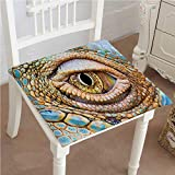 Mikihome Outdoor Chair Cushion Reptile Graphic of Creepy Eye of Iguana with Details in Skin Reptiles Look Tropical Comfortable, Indoor, Dining Living Room, Kitchen, Office, Den, Washable 30''x30''x2pcs