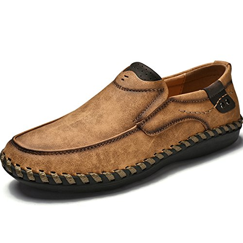 保存困惑した反乱[ロムリゲン] Romlegen カジュアルシューズ ビジネスシューズ モカシンーズ ドライビングシューズ 紳士靴 足をかける 革靴 ビーチの靴 大きなサイズ メンズ 夏 四季 本革 ウォーキング 快適 軽量 流行 通気性 涼しい 防臭 滑り止め
