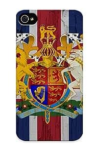New Flag United Kingdom Tpu Case Cover, Anti-scratch Resignmjwj Phone Case For Iphone 4/4s