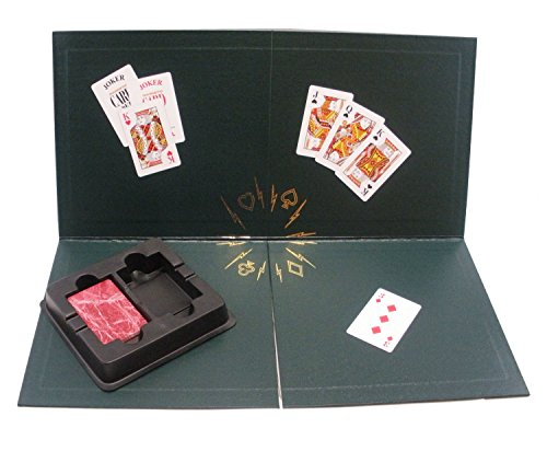 Kling Magnetic Playing Cards Quarter Fold Board with 1 Red Deck by Kling Magnetics