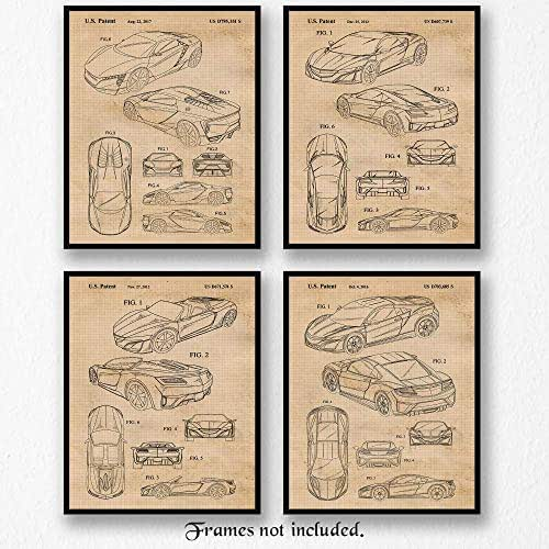 Amazon.com: Vintage Acura Honda NSX Concept Patent Poster