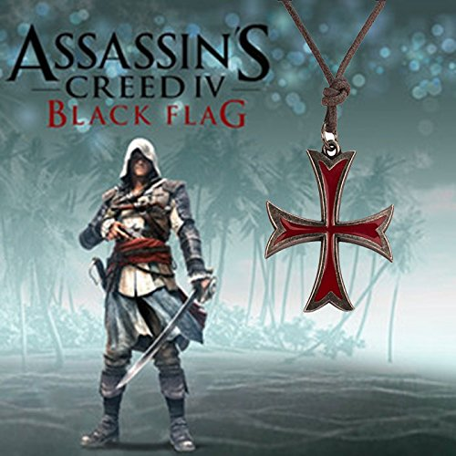 Purchasing Assassin's Creed video game peripheral end a single genuine original Knights Templar necklace pendant necklace